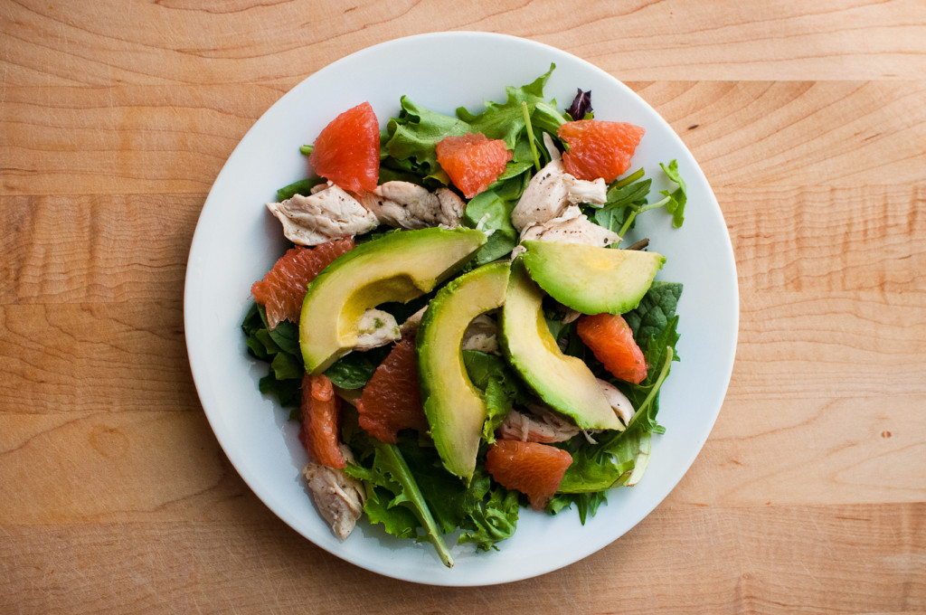 Avocado and Grapefruit Chicken Salad // Oakhurst Kitchen