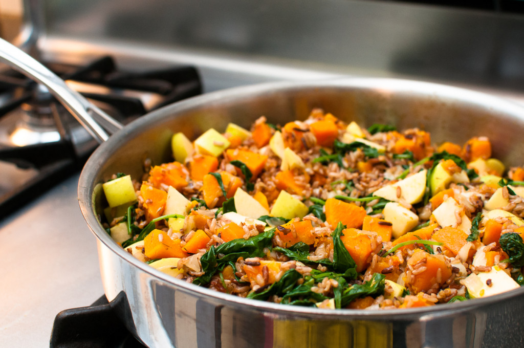 Wild Rice with Butternut Squash and Baby Kale // Oakhurst Kitchen