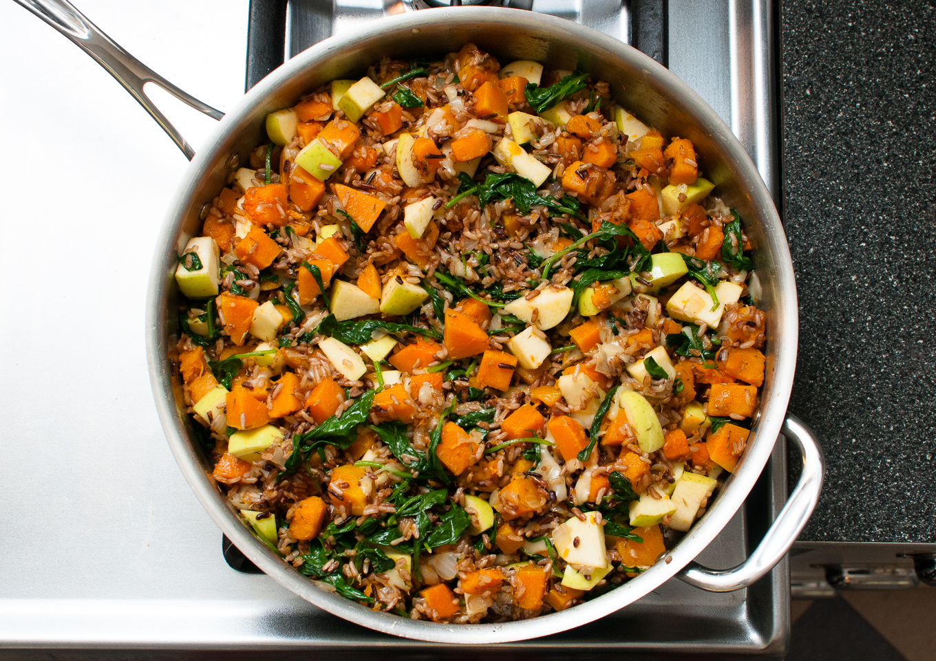 Wild Rice with Butternut Squash and Kale - Oakhurst Kitchen