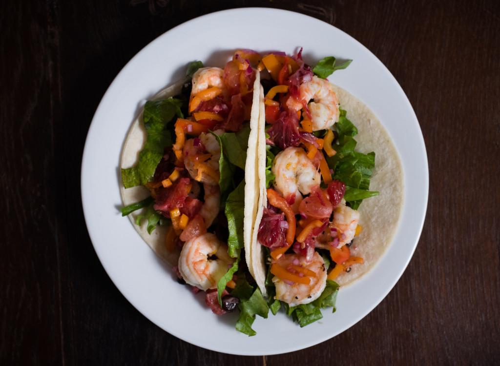 Blood Orange Shrimp Tacos // OakhurstKitchen.com