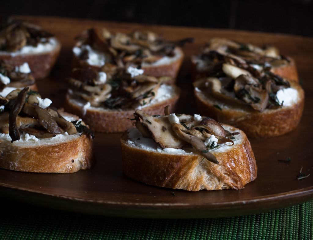 Mushroom Goat Cheese Toasts // OakhurstKitchen.com