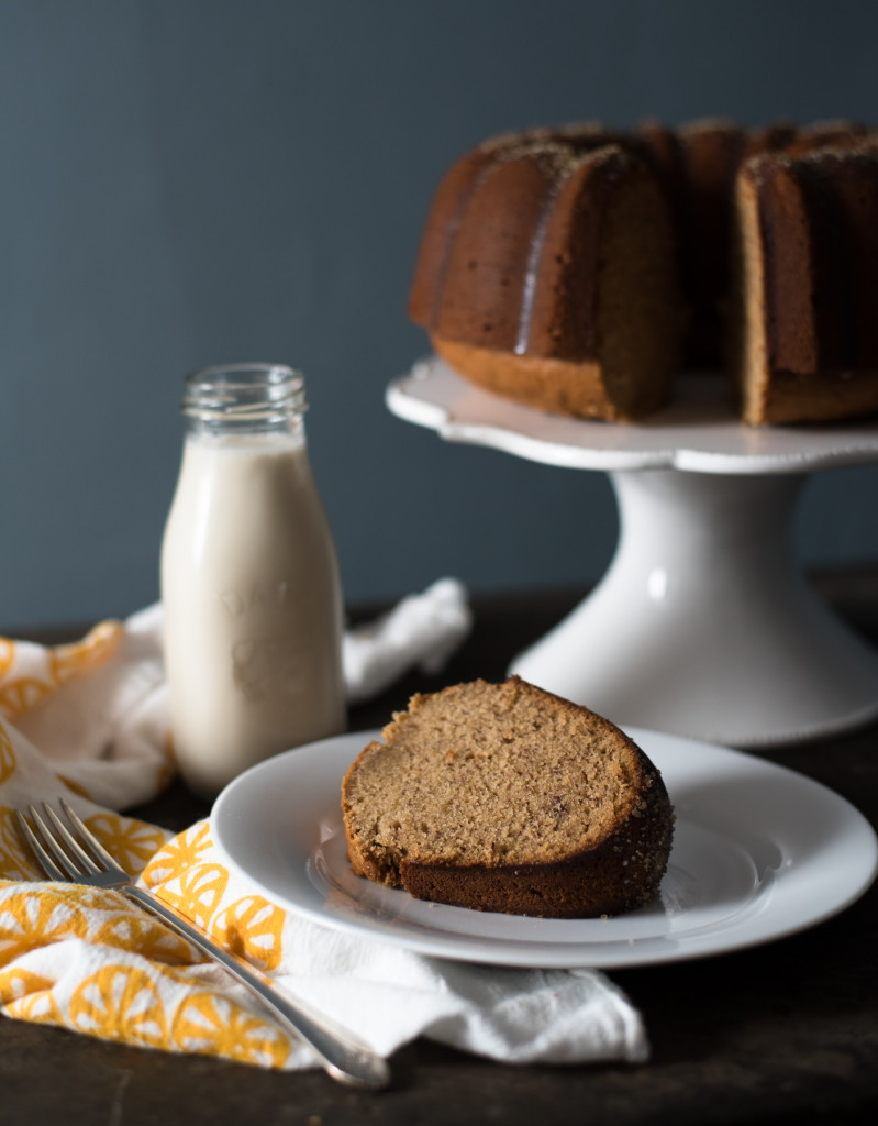 Banana Rum Breakfast Cake // OakhurstKitchen.com