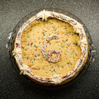 Mini Funfetti Cookie Cake // OakhurstKitchen.com
