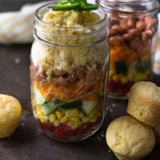 Layered Cornbread Salad // OakhurstKitchen.com