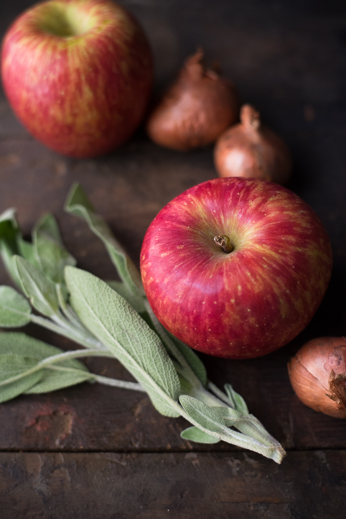 Apple Cheddar Sage Frittata // OakhurstKitchen.com