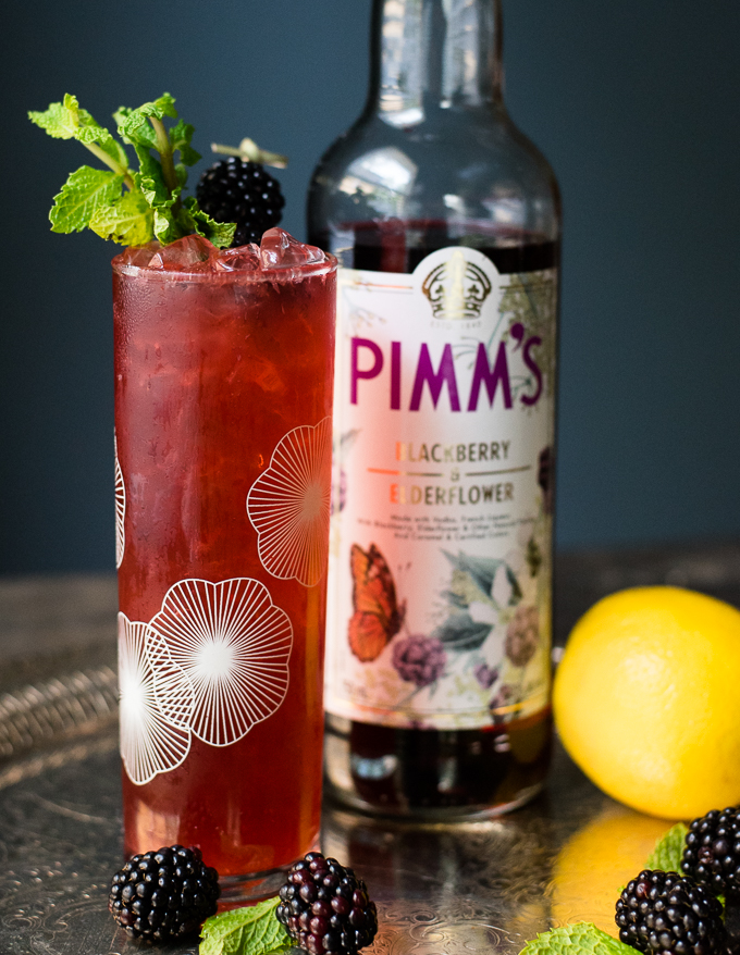 Blackberry Elderflower Pimm's Cup // OakhurstKitchen.com