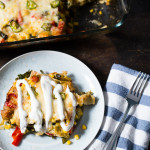 Summer Veggie Tortilla Stack // OakhurstKitchen.com