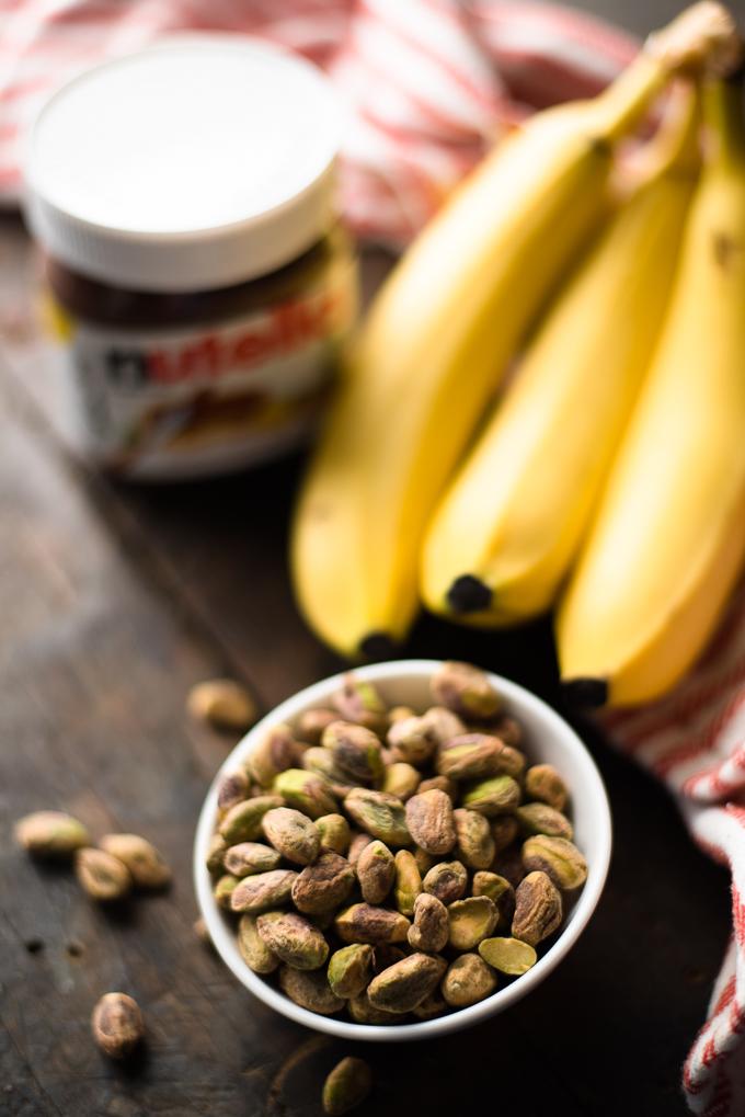 Banana Nutella Pistachio Popsicles // OakhurstKitchen.com