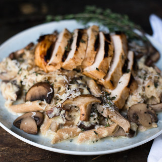 Mushroom Penne With Cauliflower Cheese Sauce // OakhurstKitchen.com