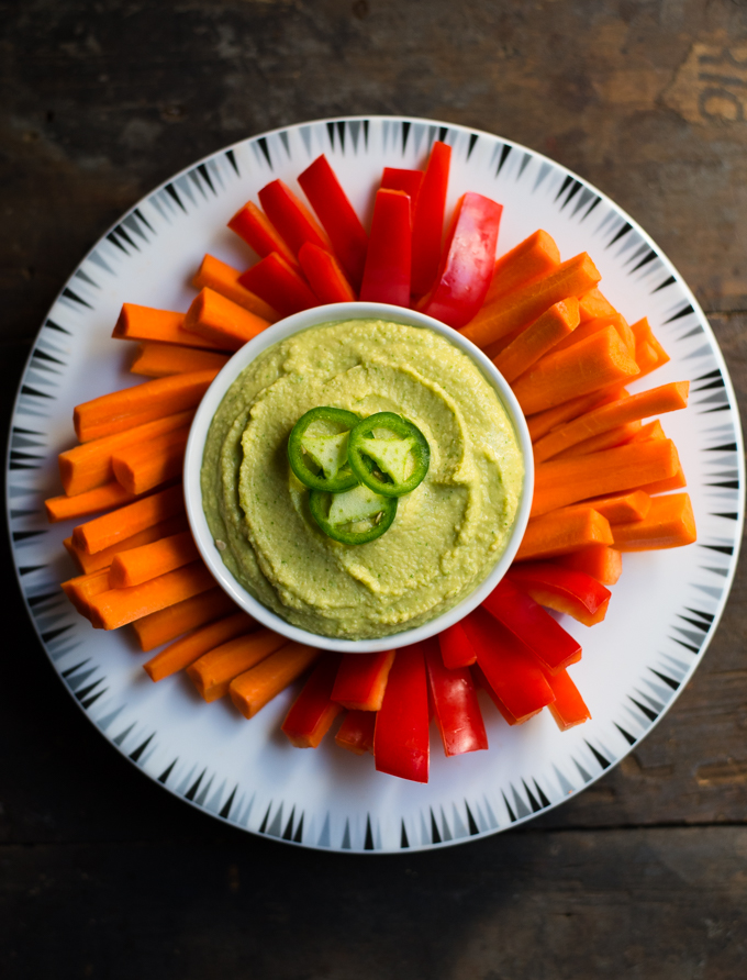 Jalapeno Cilantro Hummus // OakhurstKitchen.com