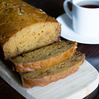 White Chocolate Pumpkin Bread // OakhurstKitchen.com